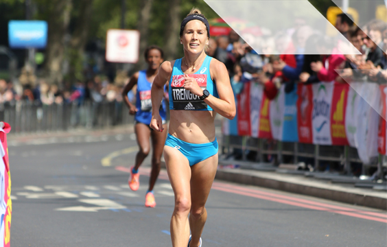 2017 London Marathon - Jessica Trengove by Katie Chan, used under CC BY-SA 2.0, cropped from original